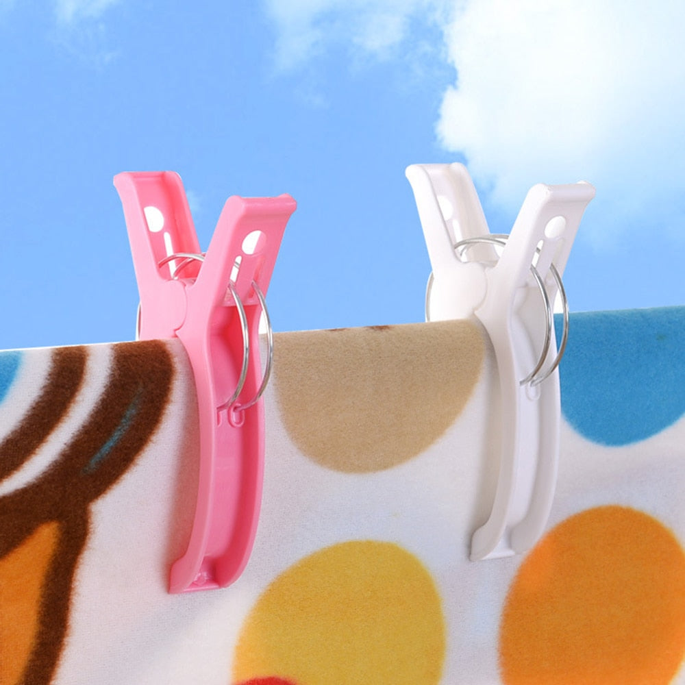 1Pc Towel Pegs Clips Creative Color Clips Beach Towel Clamp To prevent the wind Clamp Clothes Pegs Drying Racks Retaining Clip
