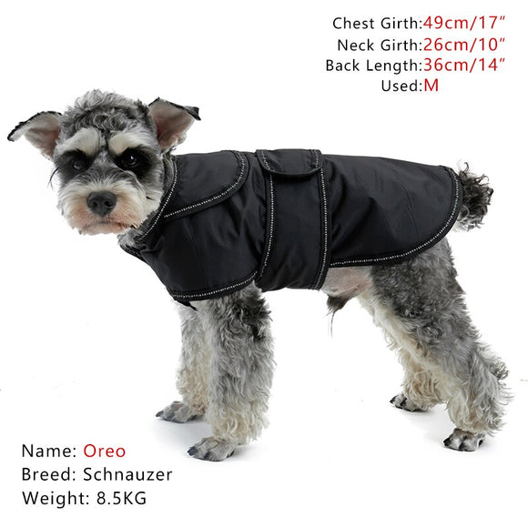 Dog Clothes 4 Seasons Size S-3XL Available Water-proof Jacket With Reflective slip Warm Winter Outfit Vest For Cat Pet Product