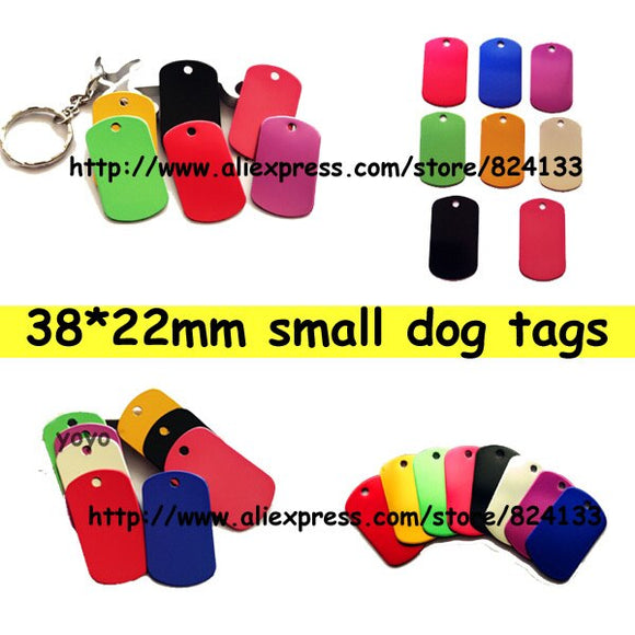 38*22mm small dog pet cat tags,anodized aluminum pet id tags for dogs,free shipping