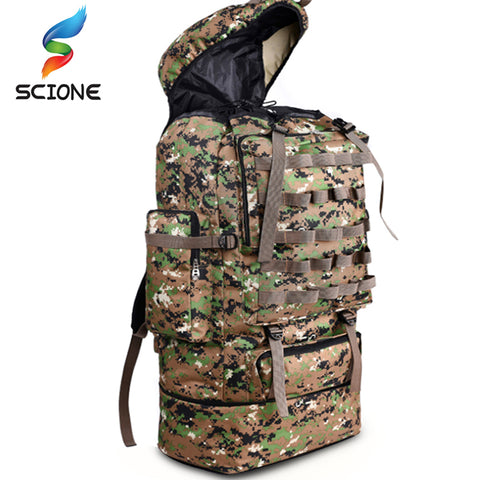 Backpack Large Capacity 100L Camouflage Backpack Outdoor Backpack Mountaineering Travel Pocket Bag Gift Fashion