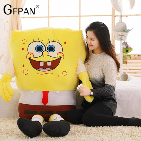 50cm Sponge Bob Baby Toy Spongebob Plush Stuffed Cartoon Cushion Soft Figure