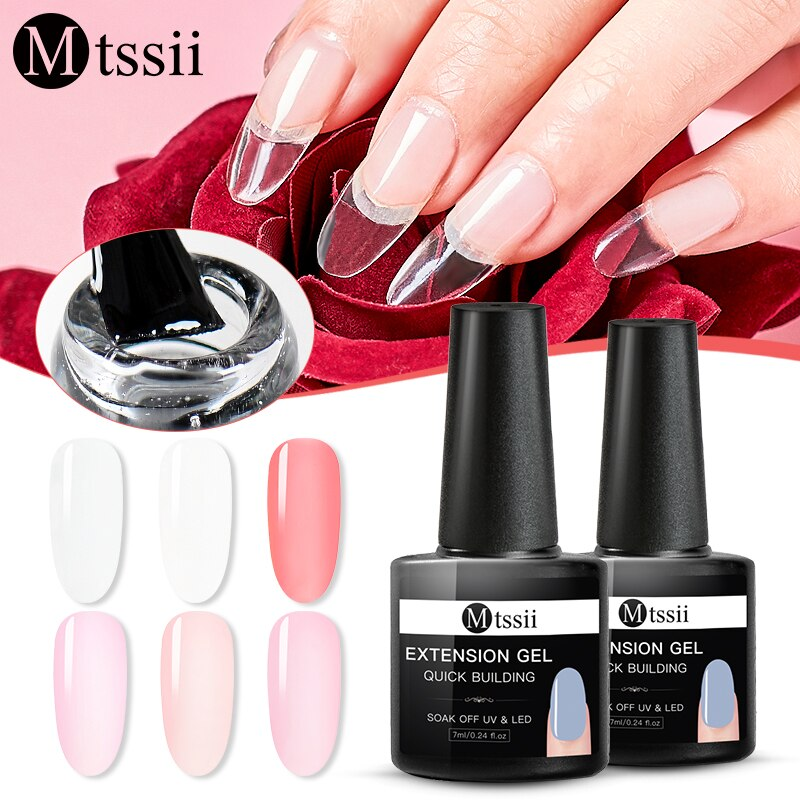 Mtssii 7ml Poly Quick Extension UV Nail Gel Nude Clear Pink White Acrylic Builder UV Gel Nail Art Tips Extend Gel Polish