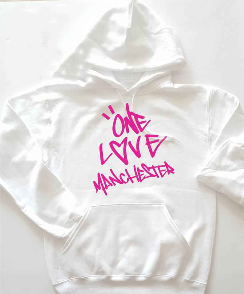 Sugarbaby New Arrival One Love Manchester Unisex Hoodie Ariana Grande Fan Hoody I see it I like it No tears left to cry Tops