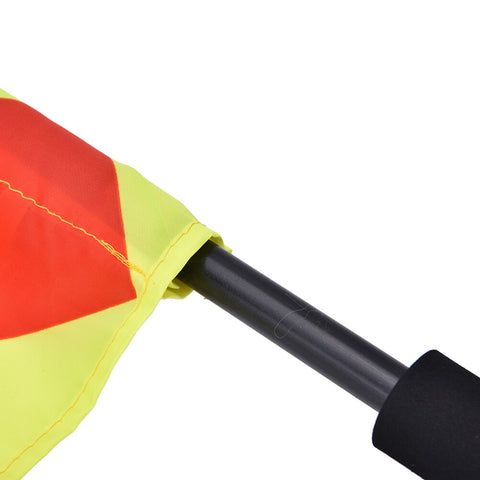 Linesman//Touch Judge Football Rugby Hockey Training Referee Flags Brand New