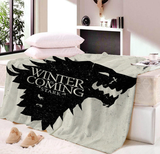 Anime Game of Thrones Game Blanket Mat Tapestry Soft Wall Bedspread Beach Towel Mat Blanket Table Beach Towel Cosplay