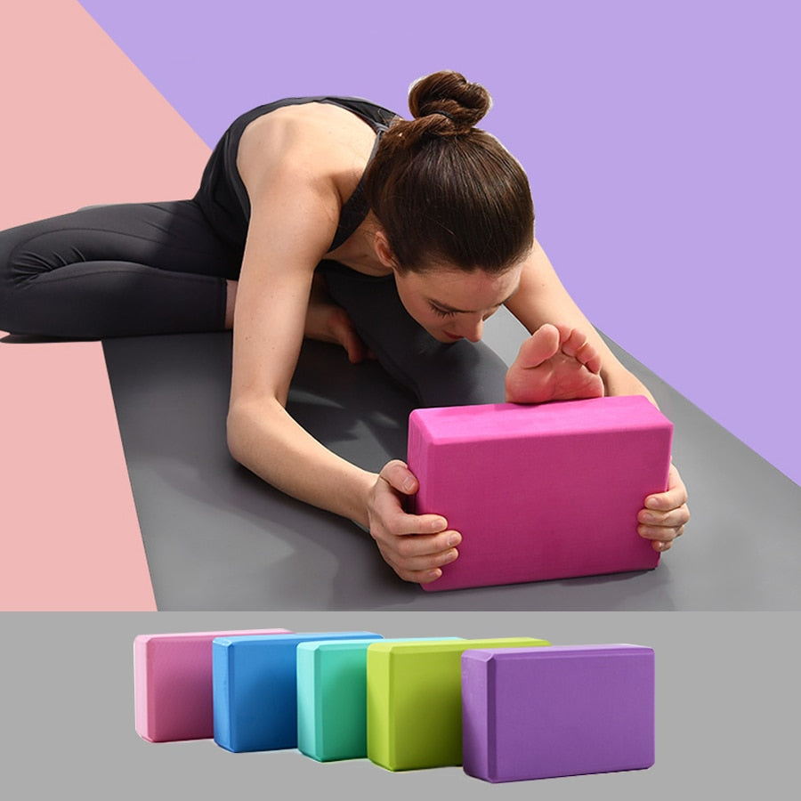 9 Colors Pilates EVA Yoga Block Brick Sports Exercise Gym Foam Workout Stretching Aid Body Shaping Health Training for Women