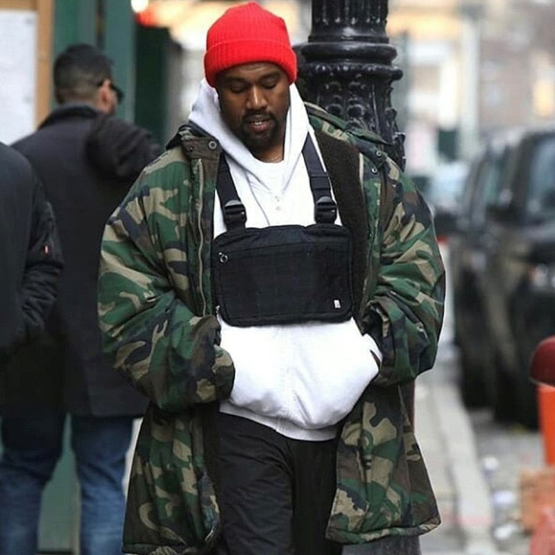 Fashion Chest Rig Men Hip Hop Streetwear Casual Functional Tactical Chest Bag Kanye West Cool Boy Cross Shoulder Bag c22