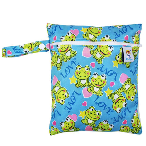 Waterproof Reusable Baby Cloth Diaper Nappy Wet /& Dry Bag Swimmer Light Green
