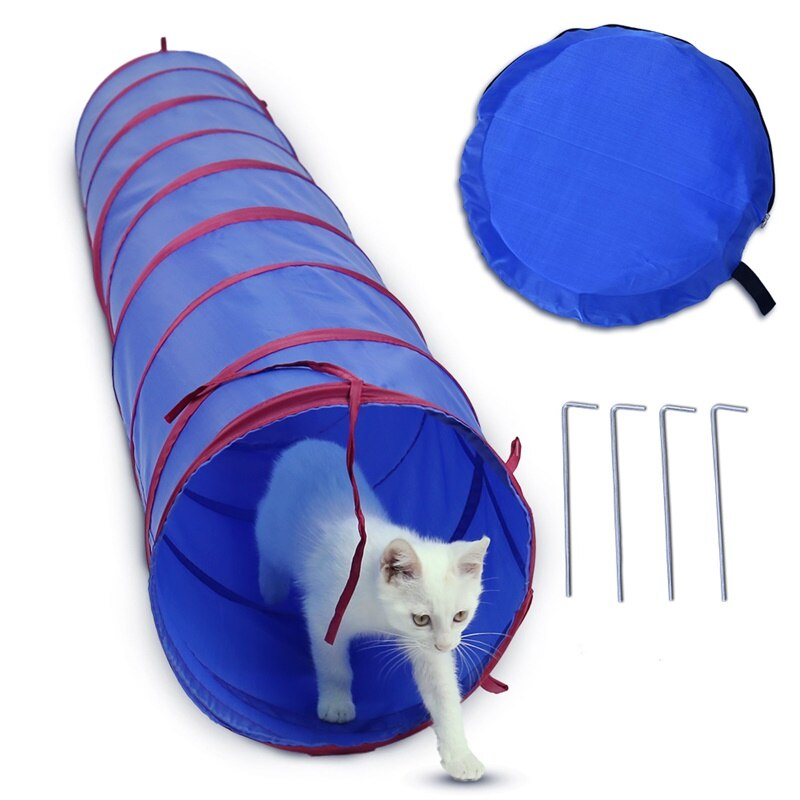 Foldable Pet Tunnel Funny Kitten Cat Puppy Toys Indoors Outdoors Dog Cat Rabbit Playing Training Tunnel Cat Play Tent Nest House