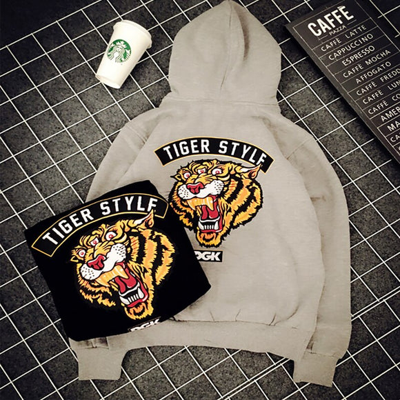 2019 New Hip Hop DGK Vintage Hand some Tiger Head Print Hoodie Men and Women Street Skateboard Warm DGK Hoodies