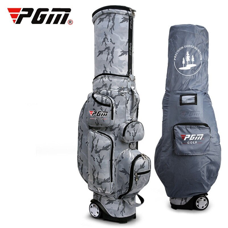 Retractable Golf Travel Bag Wheels Stand Caddy Airbag Flight Aviation Bags Multi-Function Golf Cart Bag With Rain Cover D0481