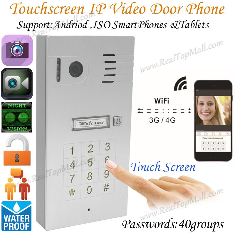 3G/4G Wireless Wifi Touchscreen Video door phone doorbell IP Camera Intercom Support IOS Android for Smart Phone Tablet