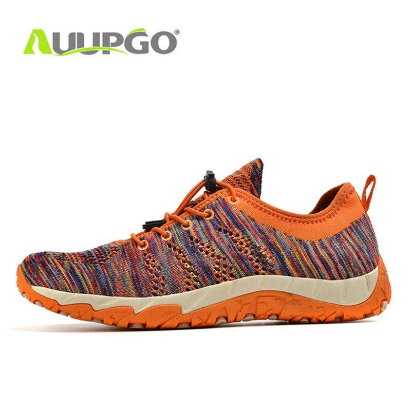 Auupgo Upstream Shoes Men Women Hiking Wading Shoes Breathable Creek Beach Sneakers Summer Quick Dry Trekking Shoes D0379