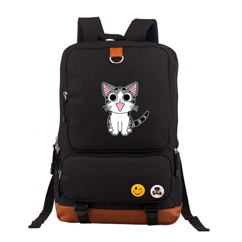 Adorable British Shorthair Kitten On Flowers Teen Girls Fashion Bags College Gift Bags Classic Fashion Bags Print Zipper Students Unisex Adult Teens Gift
