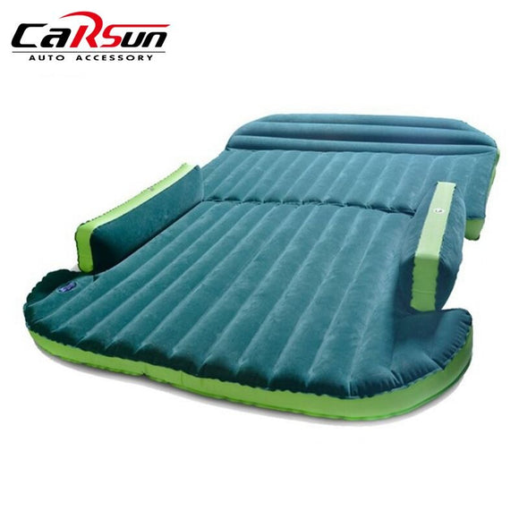 Car Air Mattress Inflatable Air Bed Auto Travel Bed Moisture-proof Pad Seat Back Interior Camping Accessories