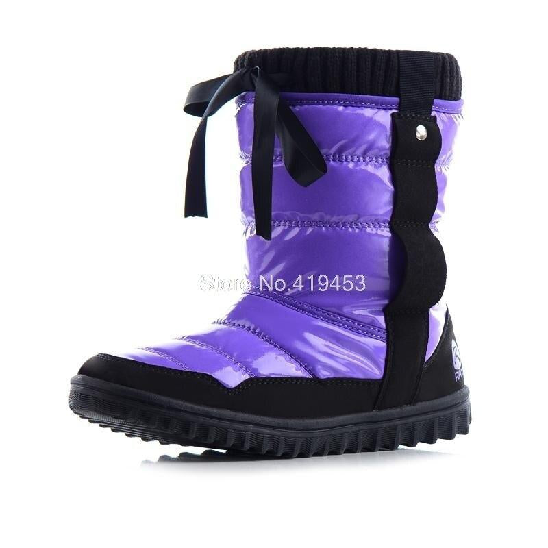 Rax 2020 Winter Snow Boots For Women Winter Plush Fleece Hiking Shoes Women Skidproof Breathable Outdoor Sneakers D0626