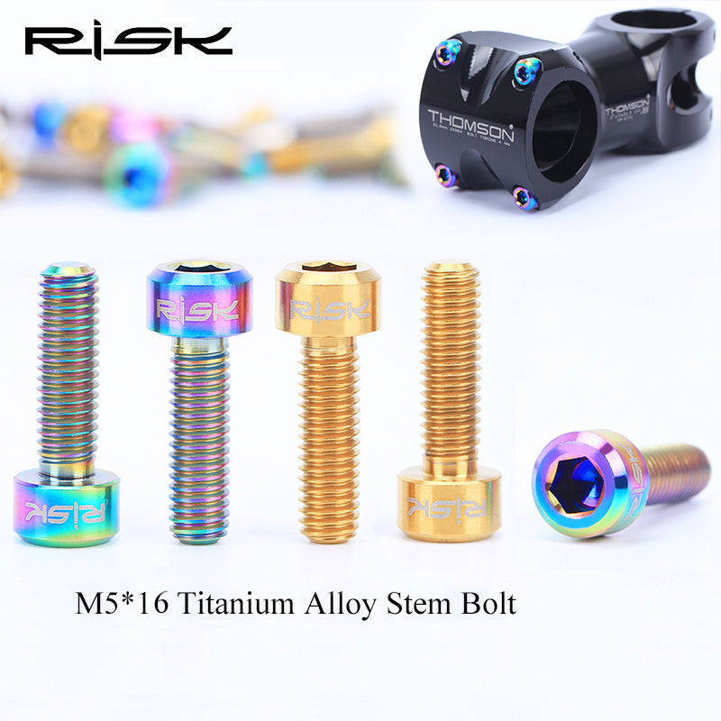 M5x40mm Titanium Ti Stem Bolts For Garmin Computer GPS Mount Extension Holder