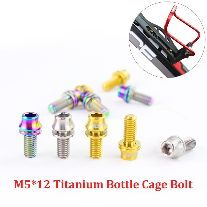 M5x12mm Titanium Bicycle Water Bottle Cage Bolt Bicycle Bottle Holder Screw RS