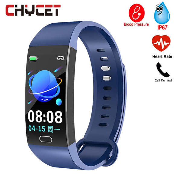 Smart Bracelet Fitness Bracelet Color Screen Blood Pressure Health Wristband IP67 Waterproof Fitness Tracker Anti-lost remind
