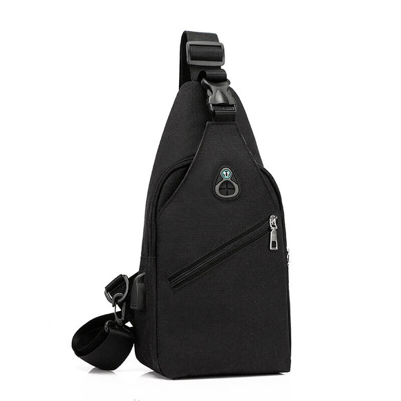 Fashion Men Cross body Chest Bags Anti Theft chest pack Summer USB Charging Headphone Plug Shoulder Messenger Bag Totes