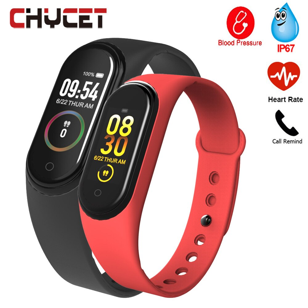 New M4C Smart Band Wristbands Men Fitness Tracker Health Heart Rate Blood Pressure Monitor Anti-lost remind Sports Bracelet
