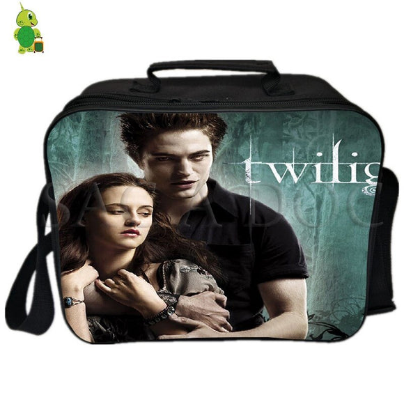 Twilight Vampire Edward Lunch Bag Thermal Insulation bag Ice Pack Women Men Camping Shoulder Bag Fresh Keeping Picnic Bag