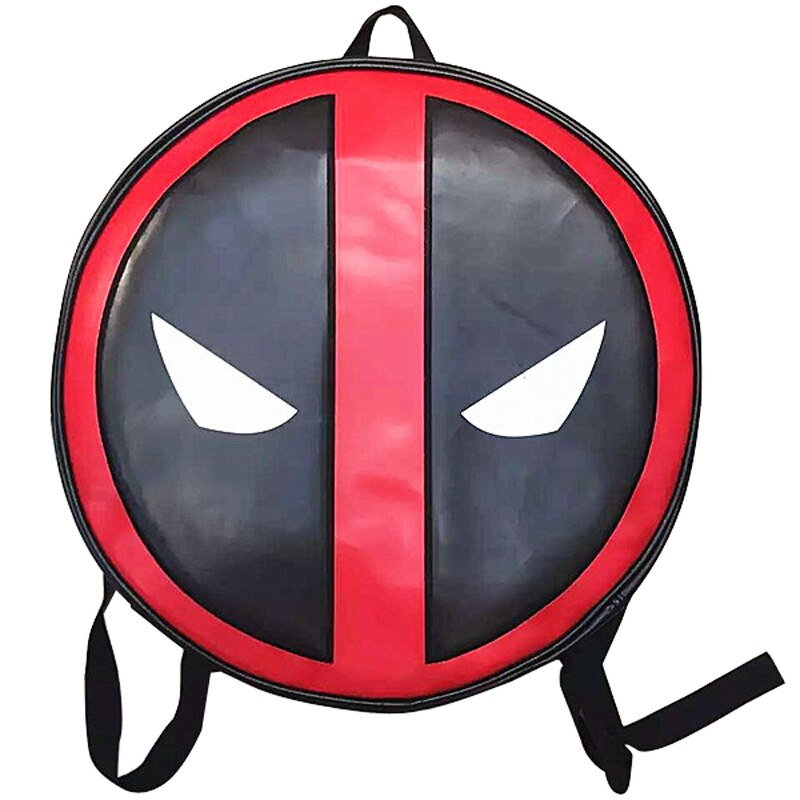 Super Hero Deadpool LOGO Print Backpack mochila for Students Casual PU Leather School Bag Gift Men Cartoon Anime Dead-pool Bags