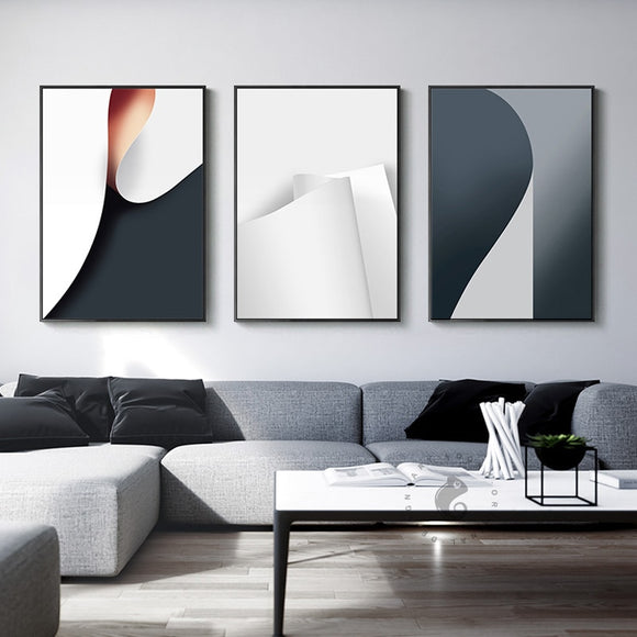 Industrial Decor Paper Roll Canvas Painting Wall Art For Living Room Dining Room Office Modern Home Posters And Print Abstract