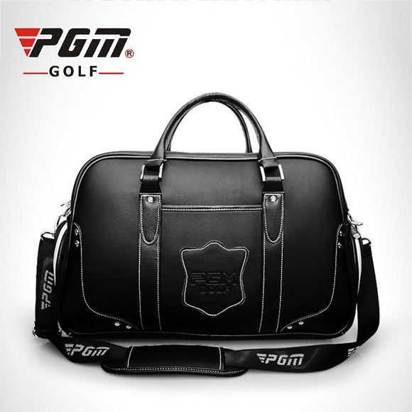 Pgm Golf Clothing Bag Genuine Leather Double Layer Shoes Bag Waterproof High Capacity Double Layer Golf Bag Outdoor Bag D0075