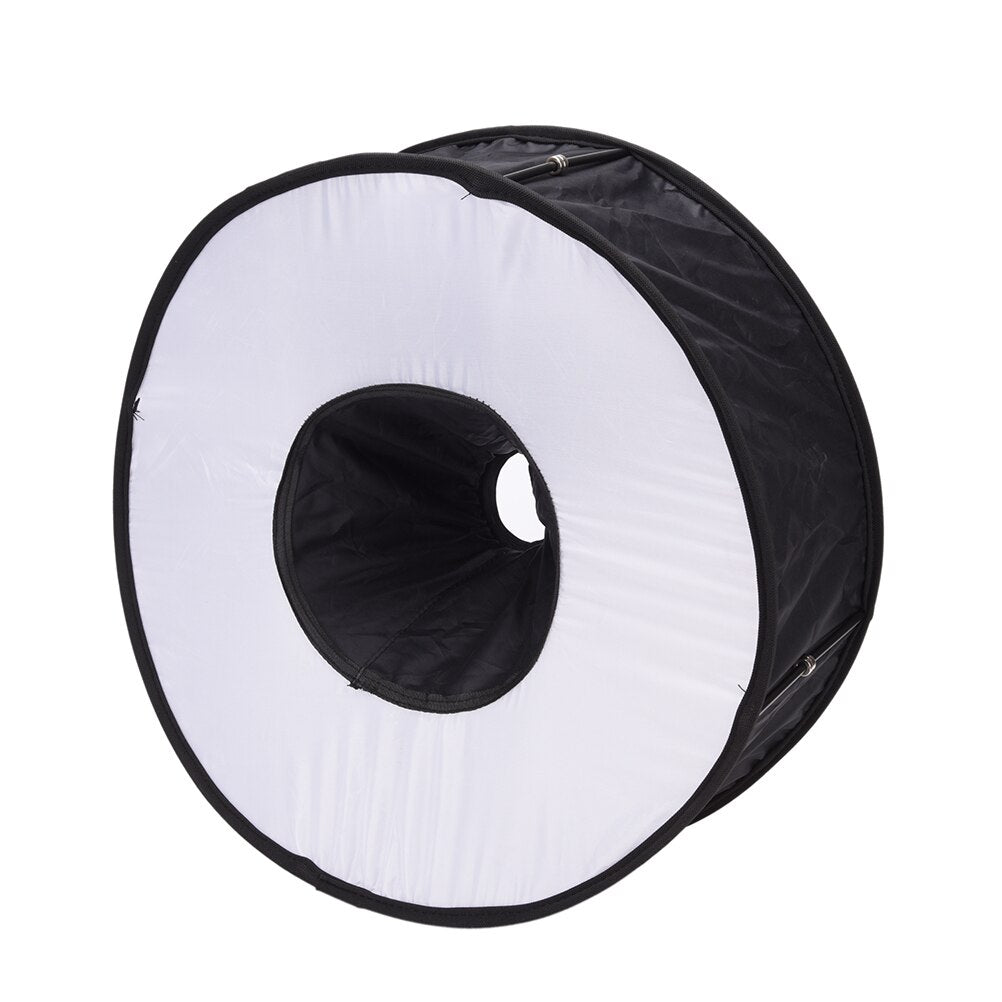 practical Portable Convenient 45CM Round Universal Folded Magnetic Ring Flash Diffuser Softbox for Macro Portrait Photography