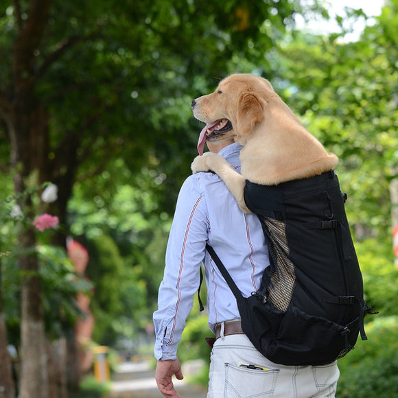 Dog Carrier Outdoor Travel Pet Shoulder Backpack Breathable Washable Outdoor Hiking Bag For Cat Large Dogs Size S-XL