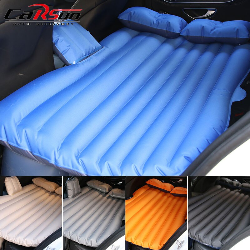 137*85*5CM Car Mattress Camping Oxford Cloth Inflatable Cushion Pad Outdoor Inflatable Car Mattress Car Bed 5Colors