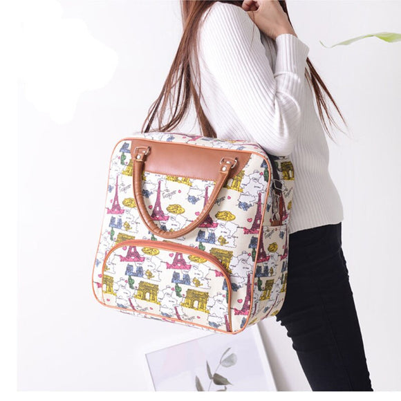 Fashion Canvas Handbag Waterproof Travel Bag Large Capacity Shoulder Bag Men and Women Travel Boarding Luggage Bag