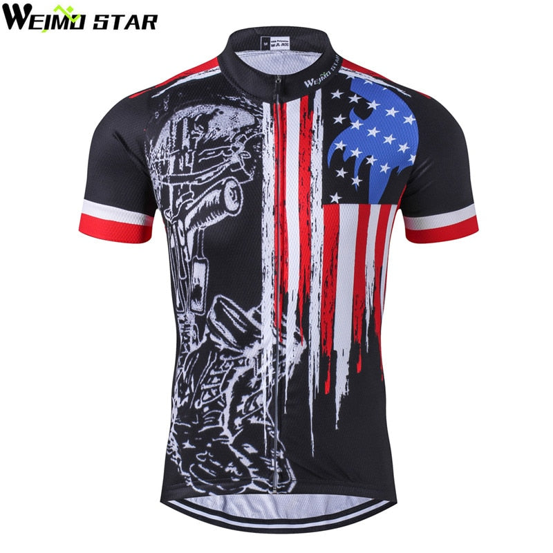 Summer Men/'s USA Cycling Jersey Short Seeve Shirt Bike Bicycle Clothes Clothing