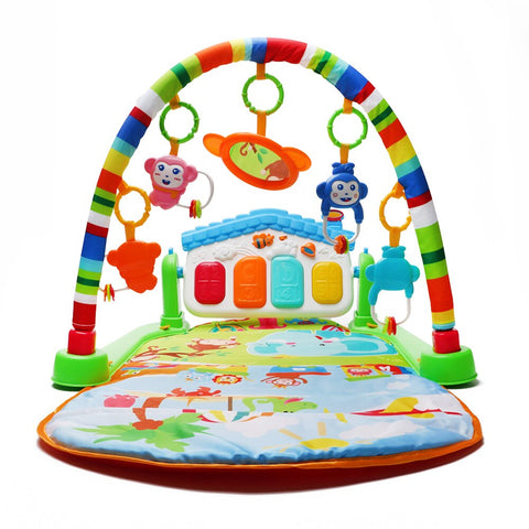 Fitness Baby Gym Play Mat Lay Play Music And Lights Fun Piano