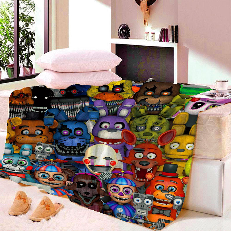 Anime Five Nights At Freddy Blanket Mat Tapestry Soft Wall Bedspread Beach Towel Mat Blanket Table Beach Towel Cosplay