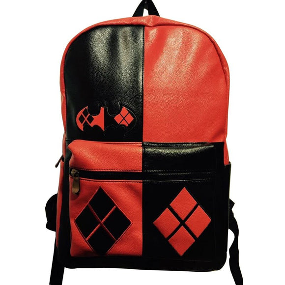 Anime Suicide Squad Leather Backpacks Lovely Cartoon Deadpool Printing Students School Bag mochila Cool Style Men Women Backpack