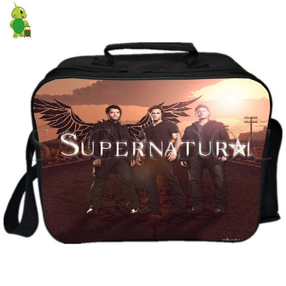 Supernatural Sam Dean Lunch Bag Thermal Insulation bag Ice Pack Women Men Camping Shoulder Bag Fresh Keeping Picnic Bag