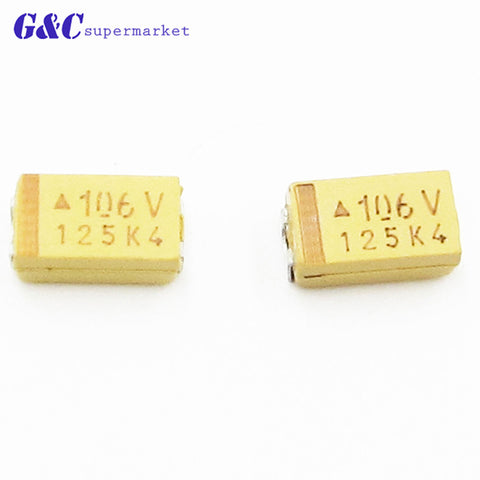 20PCS NEW  10UF 35V C6032 Type C Tantalum Capacitor SMD C 6032 Chip CA NEW