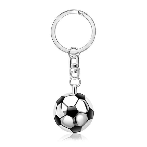 3D Football Sneakers and Ball Silver Metal Keychain Key Ring Pendant Boy Kid UK