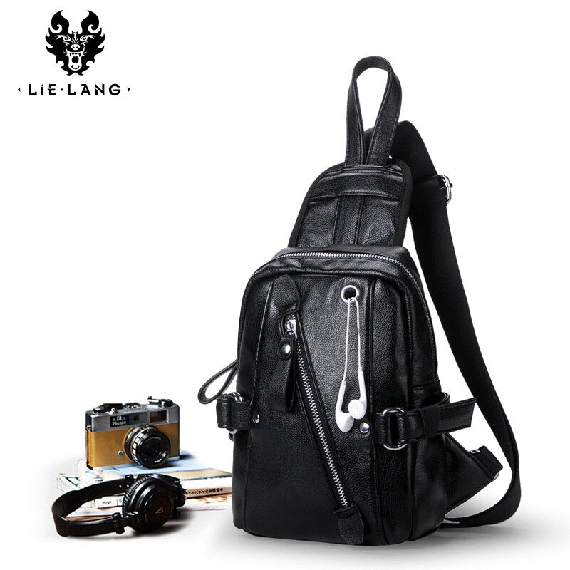 LIELANG Men's Chest Bag 2019 New Shoulder Bag Fashion Messenger Bag Men's Brand Casual Students Diagonal Crossbody Bags