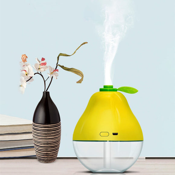 USB Humidifier Orange / Pear Shape Mini Portable Air Purifier Aroma Essential Oil Diffuser Mist Maker For Home Office Vehicle