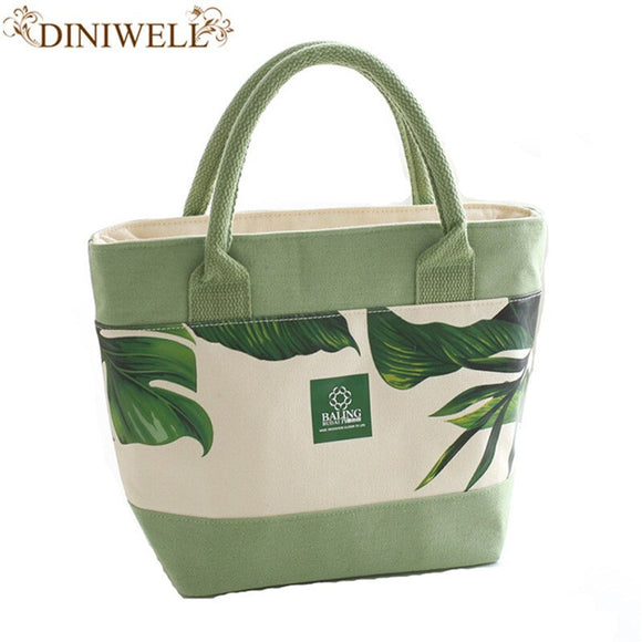 Fashion Portable Insulated Canvas lunch Bag Thermal Food Picnic Lunch Bags for Women kids Men Cooler Lunch Box Bag Tote Bag