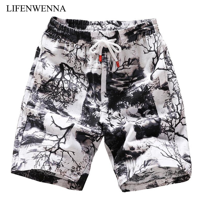 Penguin Vietnamese Flag Guitar Mens Summer Cool Short Swim Trunks with Side Pockets