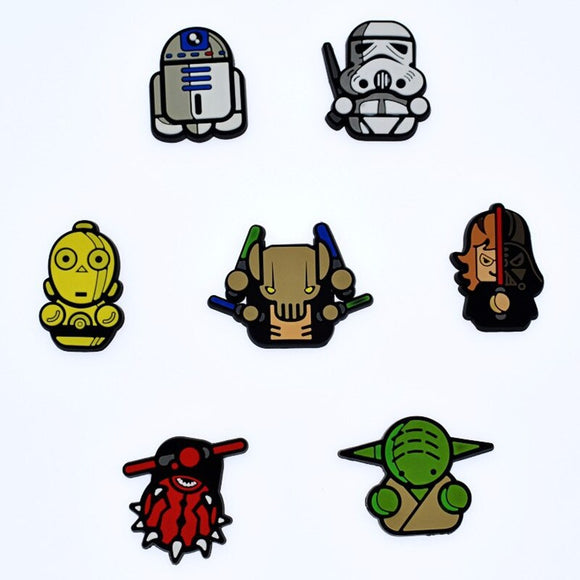 100Pcs Anime Star Wars Character PVC Decor Accessories Flat Back DIY Phone Case Gadgets Fit Bracelets Shoe Charms Kids Gift