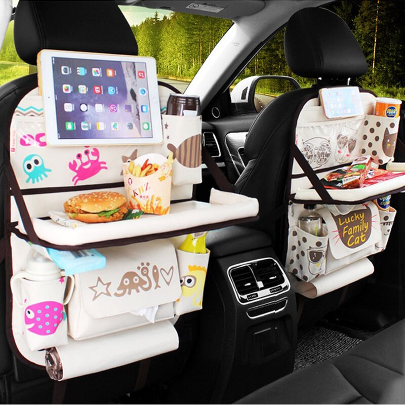 New Car Back Seat Storage Bag Holder Organizer Auto Backseat Drink Phone Travel Tools Box Pocket Universal Protector Accessoires