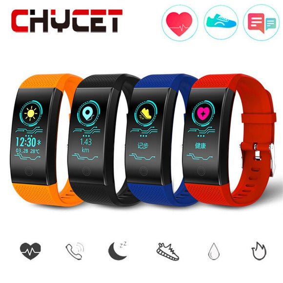 Smart Wristband Heart Rate Monitor Pedometer Waterproof IP68 Smart Band Blood Pressure Activity Tracker Watch For Women Men