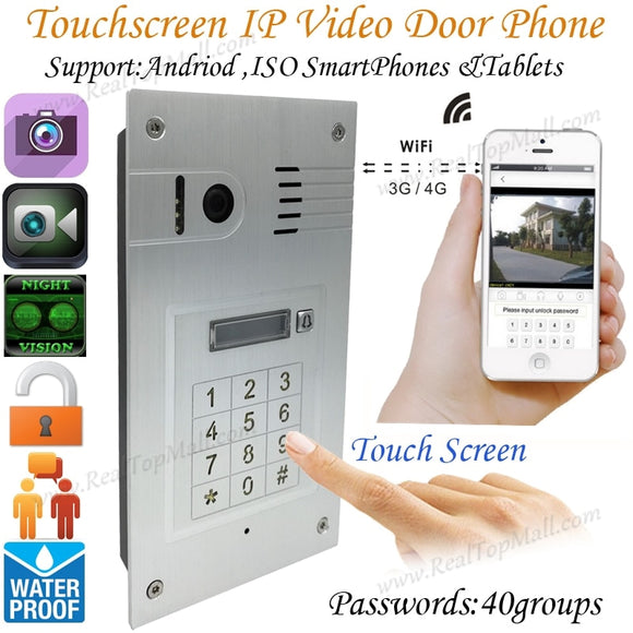 New hot sell Android IOS Embeded wall Wireless Wifi IP Video Doorphone