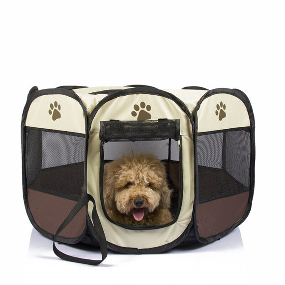 Foldable Pet Tent Bed Breathable Water-proof Anti-mosquito Dog Cat House Cage Travel Outdoors Dog Basket Kennel Playpen