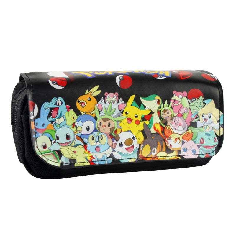 Hot New Pokemon Purse Pen Cases Pouch Lovely Cartoon Anime Pocket Monster Stationery Holder Pencil Purse Leather Cosmetic Bag